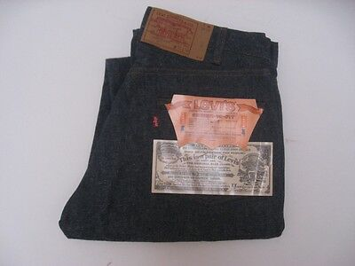 Vintage Levi's 501 DEADSTOCK Bar Tack Jeans USA MADE Tag Size 33 X 36