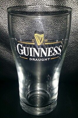Rare Collectable Guinness Draught 425Ml Beer Glass Brand New Never Used