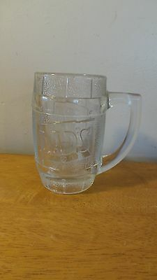 Vintage~Dad's Root Beer~Barrel Shaped~10 oz~Clear Heavy Glass Mug