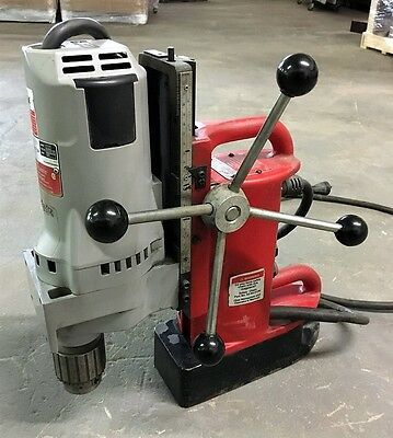 """Very Nice! Milwaukee Magnetic Drill 4202 Base 4262-1 Variable Speed Motor 3/4"""""""