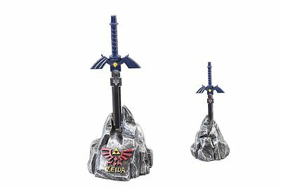5.5 inch Legend of Zelda BLUE Master Sword Letter Opener in Stone Display
