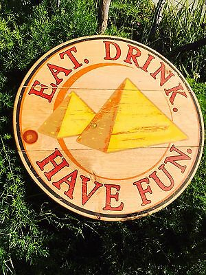 Pyramid Modelo Negra Victoria Cerveza Corona Extra Beer Bar Wood Sign New Mirror