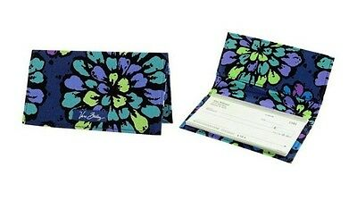 Vera Bradley Checkbook Cover in Indigo Pop