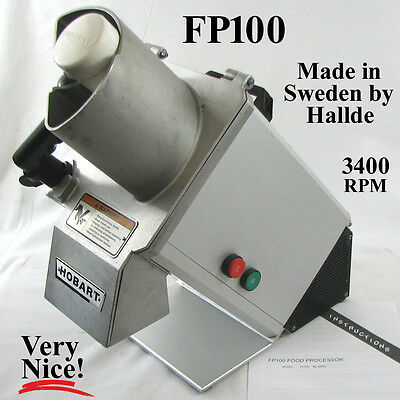 Hobart FP100 Commercial Continuous Feed Food Processor 1/3 hp 120v FP100-1