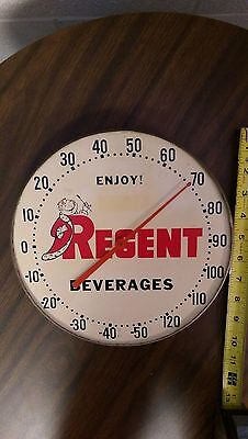 REGENT Beverages Sign Pittsburgh PA Thermometer Rare Soda Pop Antique Bottling