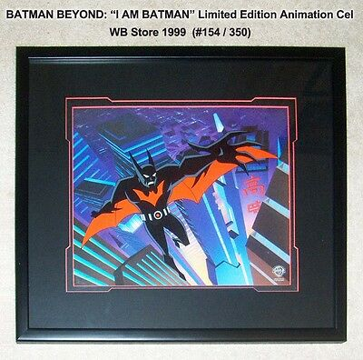 I AM BATMAN BEYOND Animated Series Limited Edition Cel WB Store TV 1999 COA