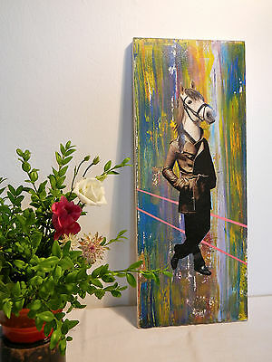 """LOWBROW Kunst Original Collage """"from disco to nowhere II"""" - Unikat, mixed media"""