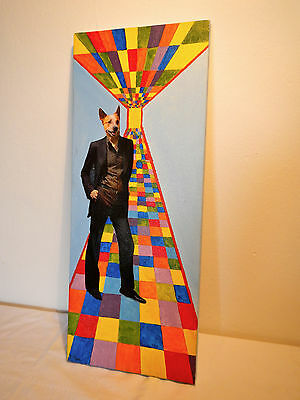 """LOWBROW Kunst Original Collage """"from disco to nowhere I"""" - Unikat, mixed media"""