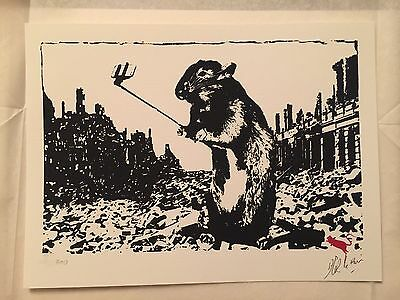 Blek Le Rat After The Apocalypse Limited Edition Screen Print Signed & Numbered