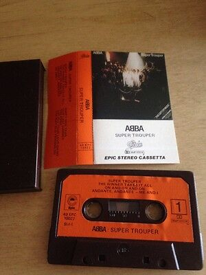 Abba - Super Trouper MC Cassetta 40epc10022 Made In Italy