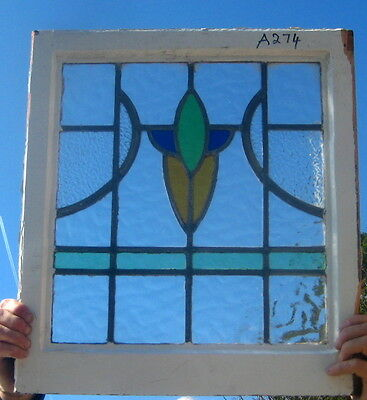 A274    Art Deco   stained glass window  Ca 1920