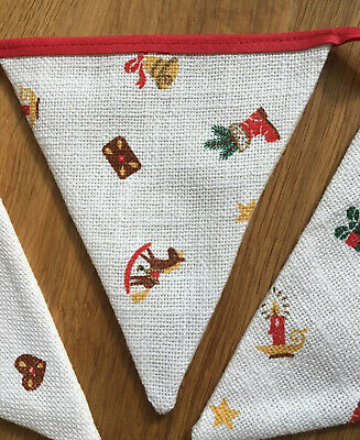 Bunting Nursery Design Fabric Rustic Gisela Graham New Baby Christening BNWT