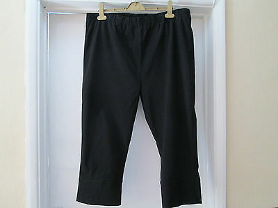Yours cropped bengaline stretch trousers/jeggings Black size 22/24
