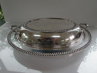 Vtg Double Vegetable Bowl in 3155 (Silverplate,Hollowware) by Crescent Silver