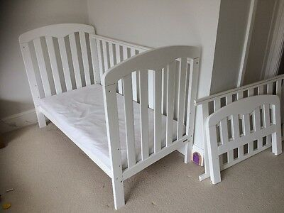 John Lewis Rachel Convertible Cotbed / Childs Bed in White