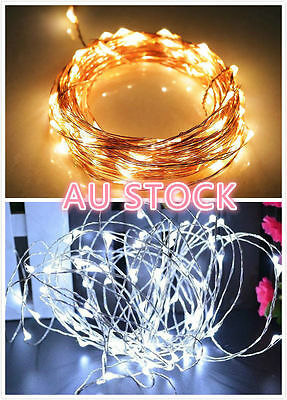 5/10M 50/100LED String Copper Wire Fairy Lights Battery Powered Waterproof Party