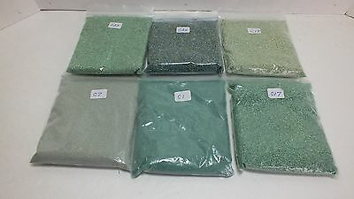 Six Bags of Ground Cover for Model Railroading Various Colors (C1)