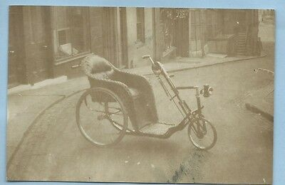 Vintage Real Photographic Postcard Of An Old Wicker Invalid Carriage