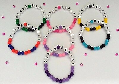 Girls And Boys Holiday Identity Waterproof Beaded Bracelet