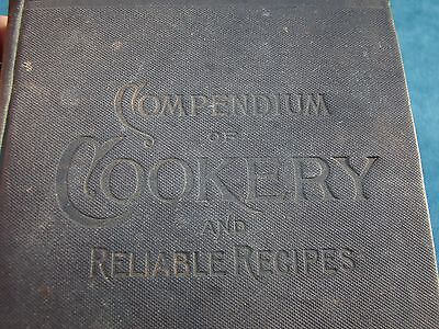VICTORIAN COOKBOOK COMPENDIUM COOKERY RELIABLE RECIPES w/ BOOK KNOWLEDGE 1890