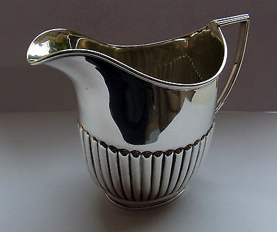 Antique Sterling Silver Cream Jug - London 1896 - Hutton & Sons - 176.4g