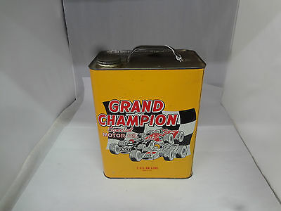 Vintage Advertising Two Gallon Grand Champion Service Station Oil Can    675-Y