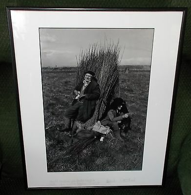 Patrick Sutherland Titled & Signed Framed Photo Print - Willow Cutters Somerset