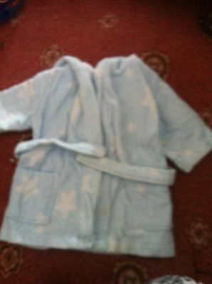 Baby Boys Dressing Gown The Little White Company Age 12-18 months