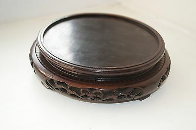 Antique Oriental Hand Carved Wooden Stand Vase Stand China Asia