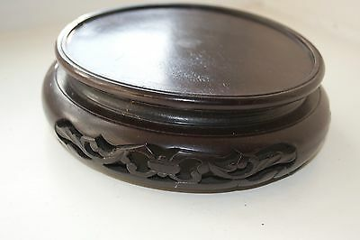 Antique Oriental Hand Carved Wooden Stand Vase Stand Asia China