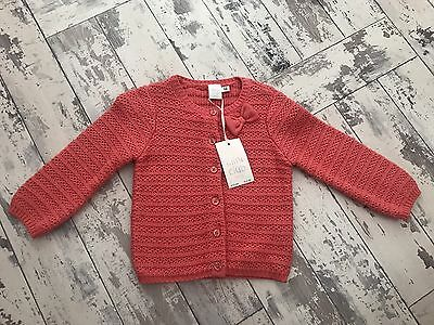 New Baby Girls Cardigan 9-12 Months