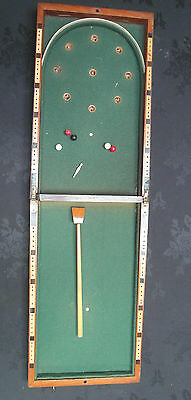 Rare Victorian Small Campaign Bagatelle Table Top Game