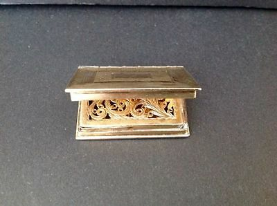 Edward Smith Novelty Book Antique English Gilt Sterling Silver Vinaigrette