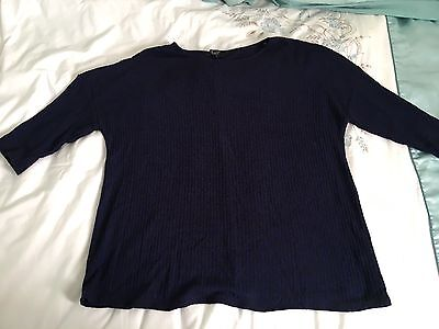 Dark Blue maternity jumper From New Look size 16