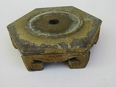 Antique Vintage Arts & Crafts MSLC #4284 Brass Bronze GREEK KEY Table Lamp Base