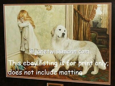 FINE ART PAINTING PRINT, LtdEd., SIGNED, Great Pyrenees Pyrenean Mountain Dog