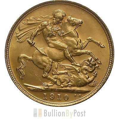 1910 Gold Sovereign - King Edward VII - S