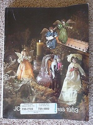 Vintage 1983 JCPenney Christmas Catalog Penneys, some toys, pictures cut out