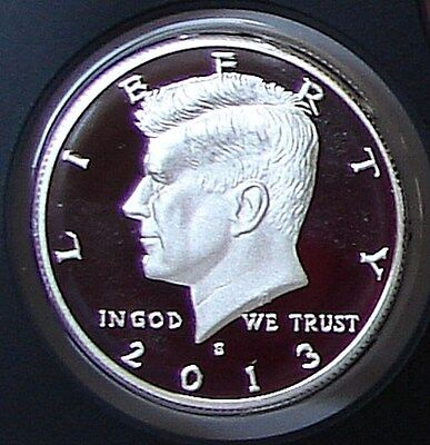2013 S SILVER PROOF GEM CAMEO  KENNEDY HALF DOLLAR - MINT CONDITION k