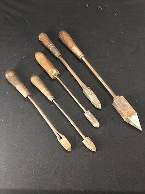 Vintage Lot Copper Brass Crafts Plumbing Soldering Irons (lh409)