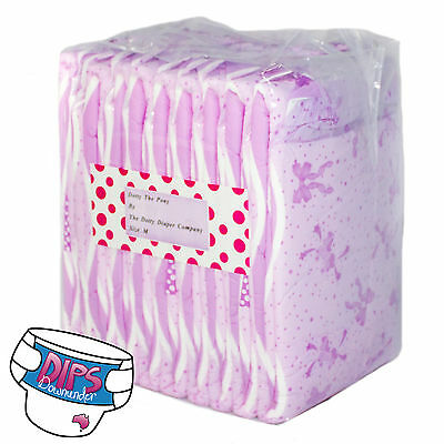 Dotty The Pony Adult ABDL Nappies/Diapers | 10 Pack | Dotty The Diaper Company