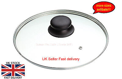New Tempered Glass Vented Replacement pan Lid Saucepans Casseroles Frying Pans