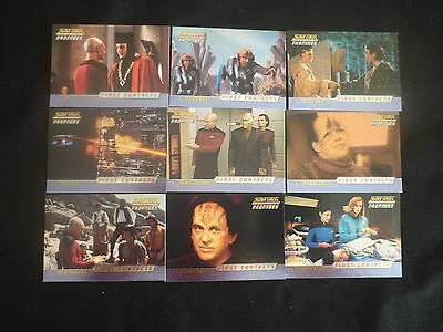 2000 Star Trek TNG Profiles FIRST CONTACT Set of 9 Chase Cards (C1)