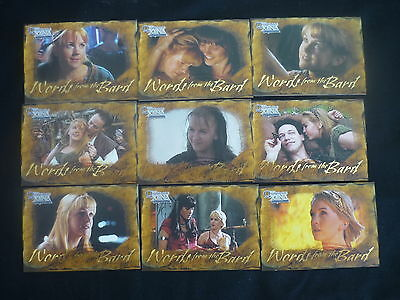 2003  Quotable Xena: 9 Card Words from the Bar Set (C1)