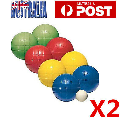2X Bocce Boule Ball Set 8 Balls + 1 White Ball with Carry Fame