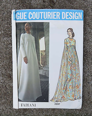 Original   Vogue Couturier Pattern for a  Evening Dress by Fabiani   34