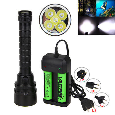 20000Lm XM-L T6 LED Scuba Diving Flashlight Torch 18650 lamp Waterproof 100m