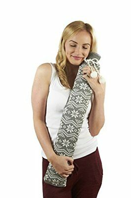 Intelex Extra Long PVC Tubular 2L Hot Water Bottle With Knitted Cover Grey