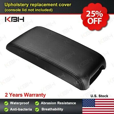 Leather Armrest Center Console Lid Cover Fits for Toyota Camry 2012-2017 Black