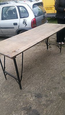 Antique vintage Army tressel table